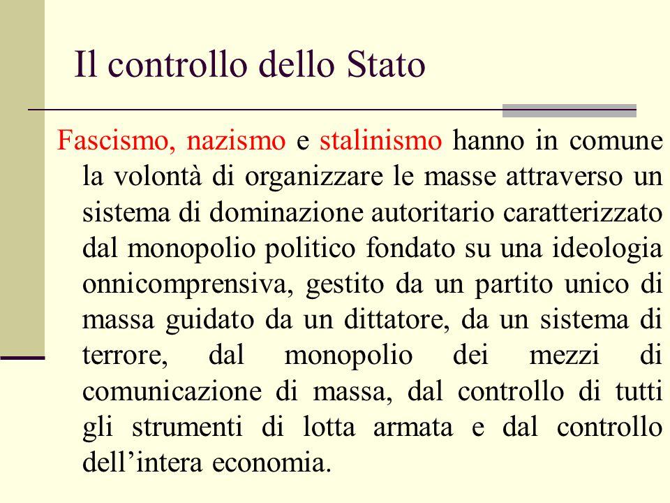 Il controllo dello Stato