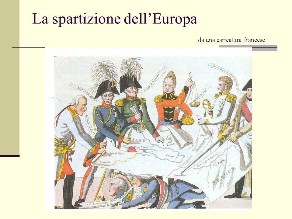 La spartizione dell'Europa da una caricatura francese