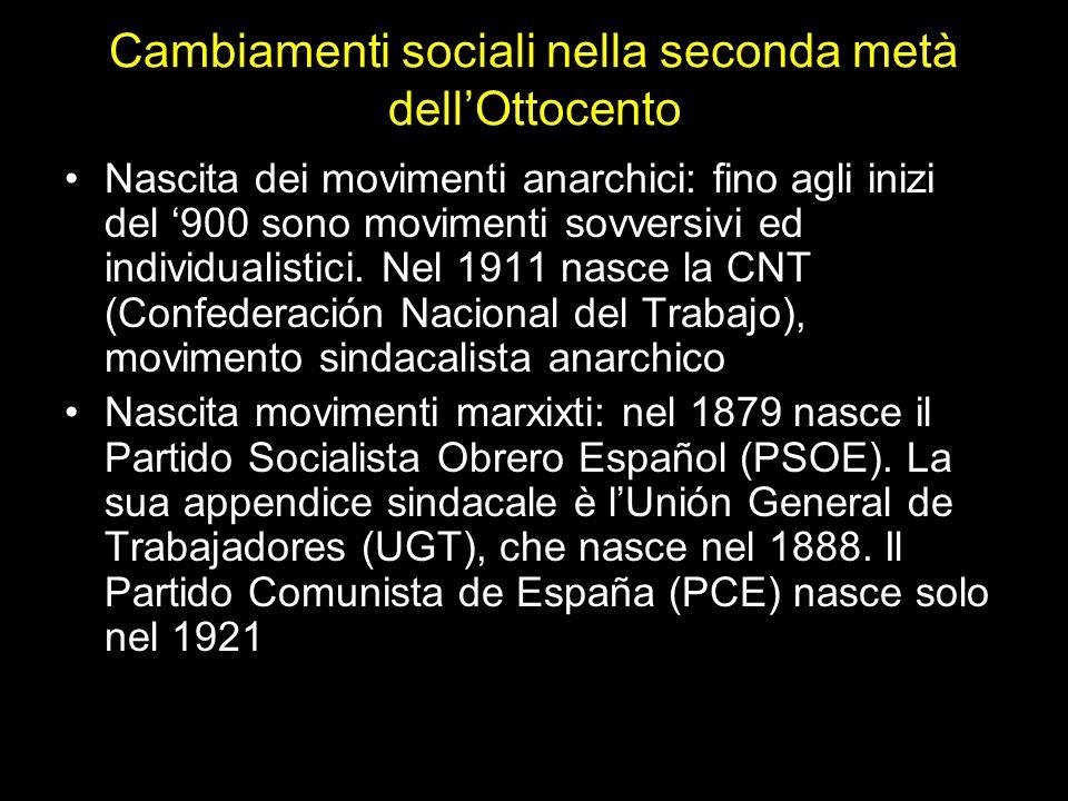 Cambiamenti sociali nella seconda metà dell'Ottocento