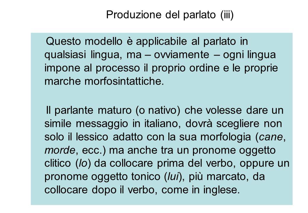 Produzione del parlato (iii)