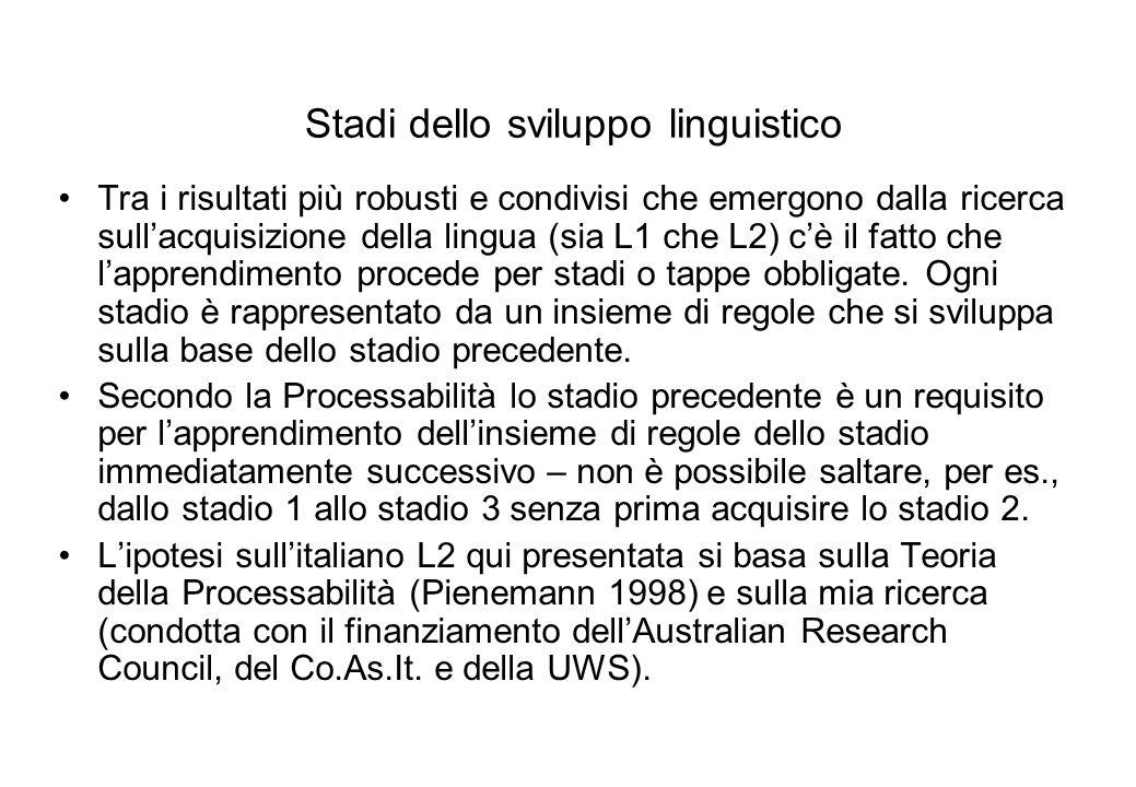 Stadi dello sviluppo linguistico