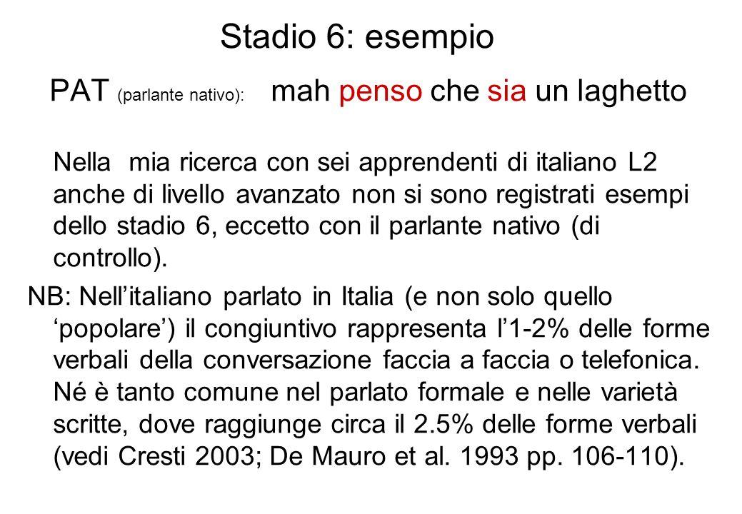 Stadio 6: esempio