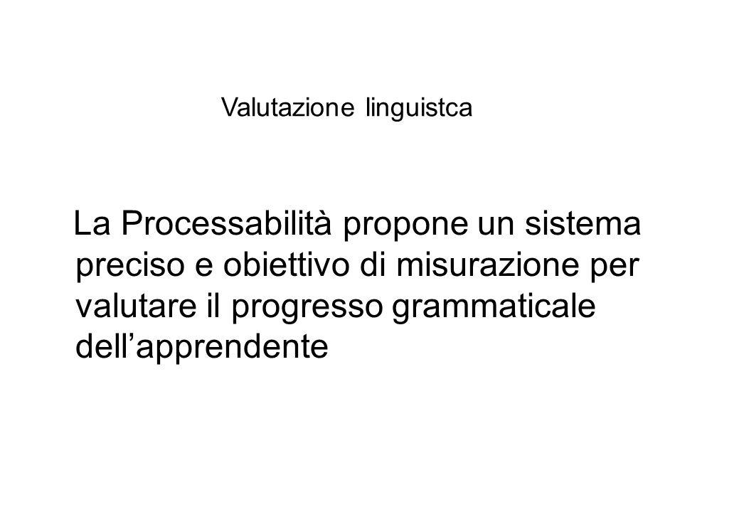 Valutazione linguistca