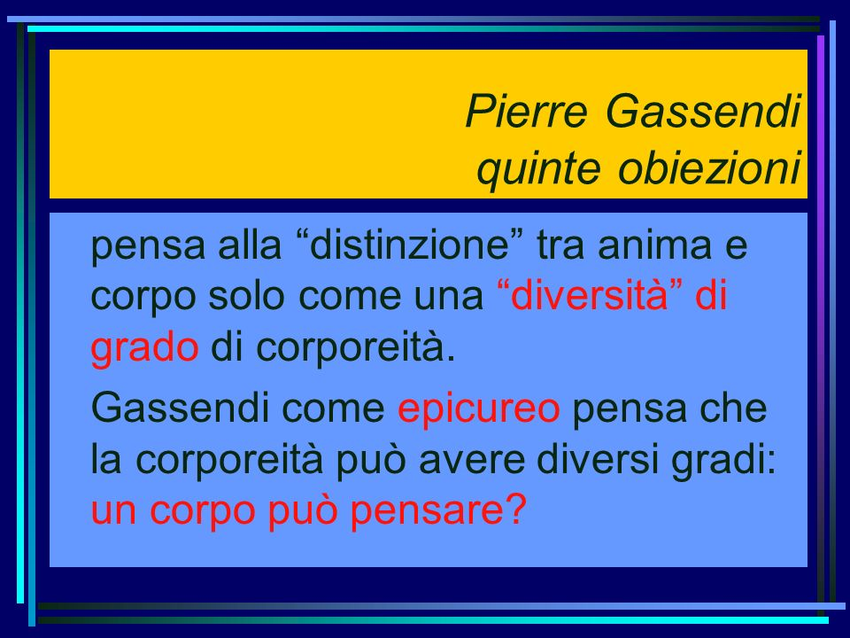 Pierre Gassendi quinte obiezioni