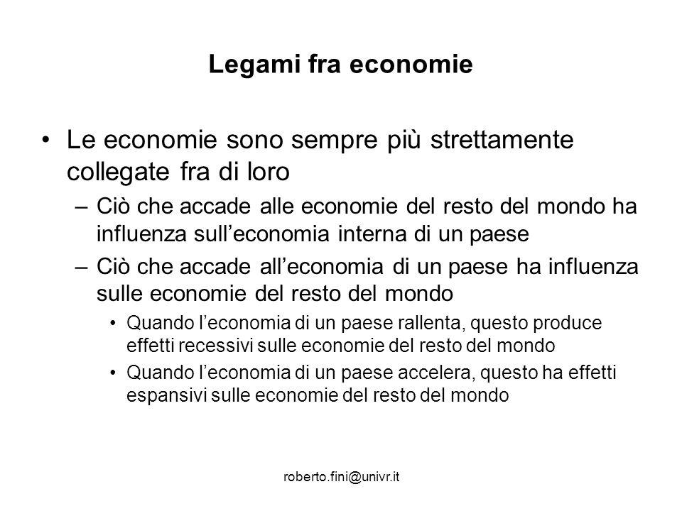 Le economie sono sempre più strettamente collegate fra di loro