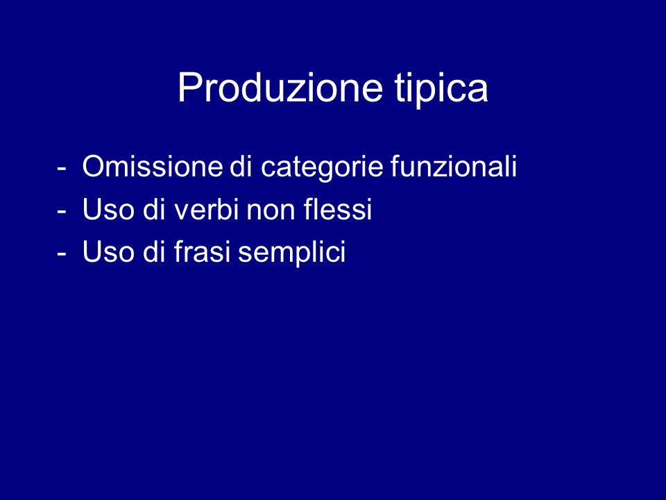 Produzione tipica Omissione di categorie funzionali