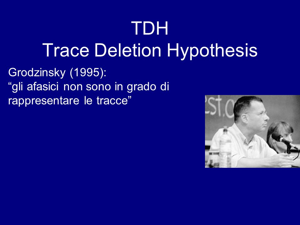 TDH Trace Deletion Hypothesis