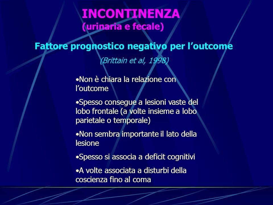 Fattore prognostico negativo per l'outcome
