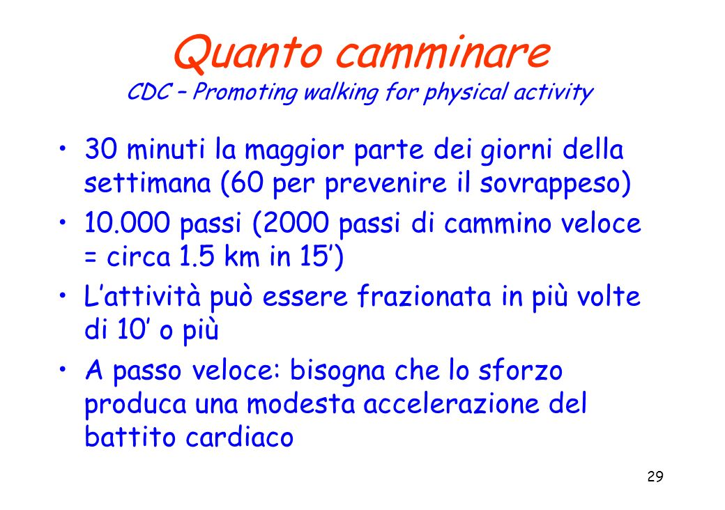 CDC – Promoting walking for physical activity