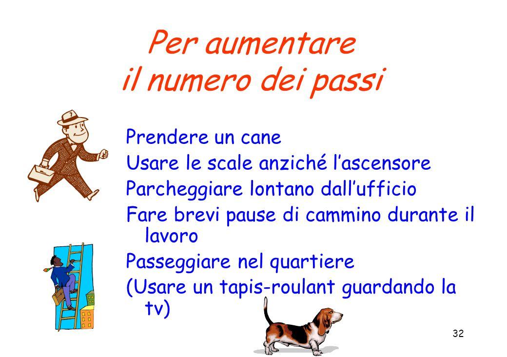 Per aumentare il numero dei passi Prendere un cane