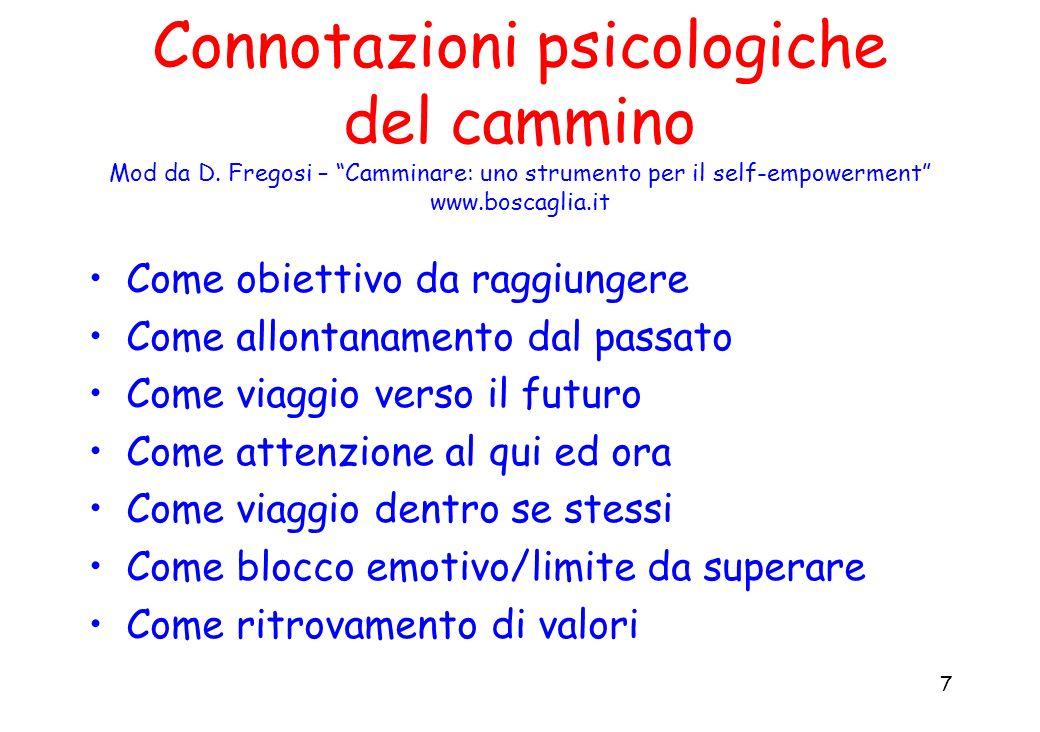 Connotazioni psicologiche del cammino Mod da D