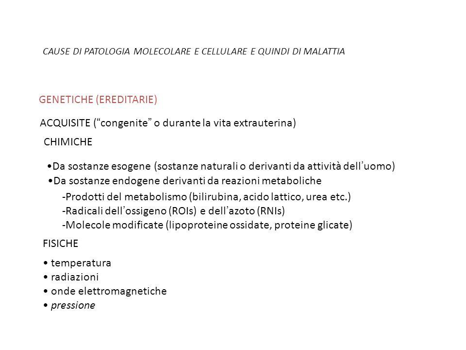 GENETICHE (EREDITARIE)