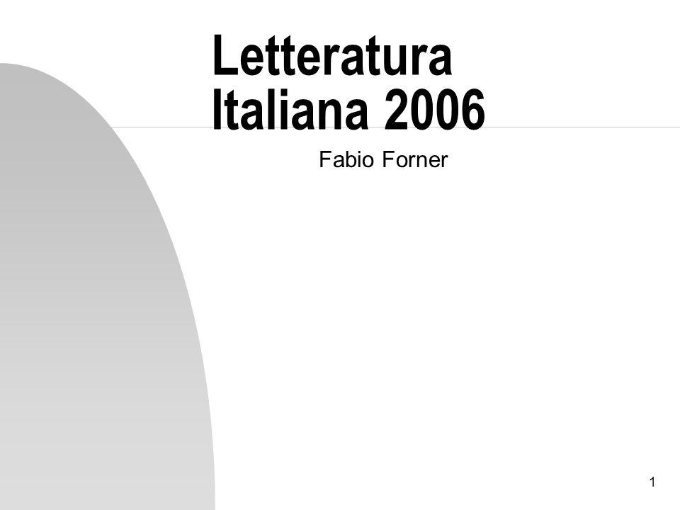 Letteratura Italiana 2006 Fabio Forner