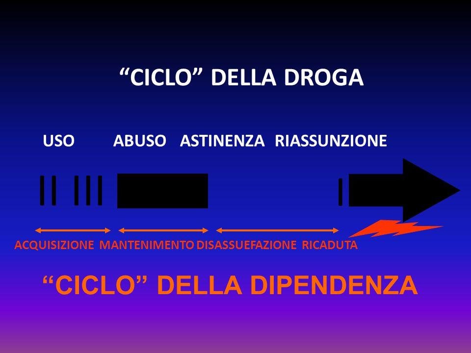 CICLO DELLA DIPENDENZA