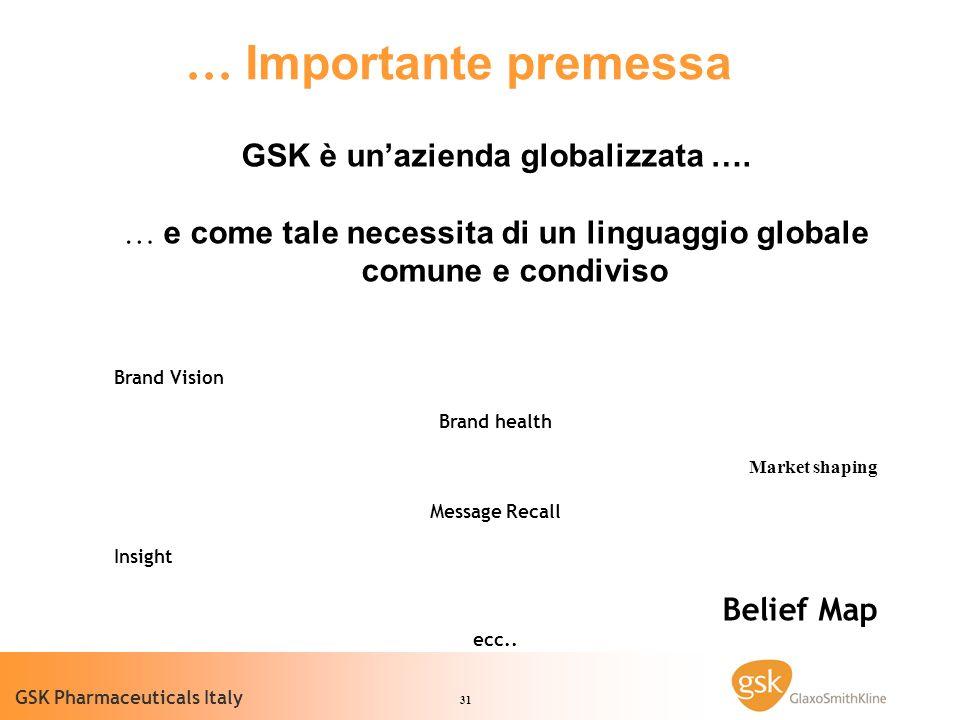 GSK è un'azienda globalizzata ….