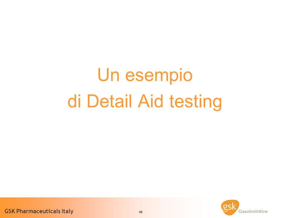 Un esempio di Detail Aid testing