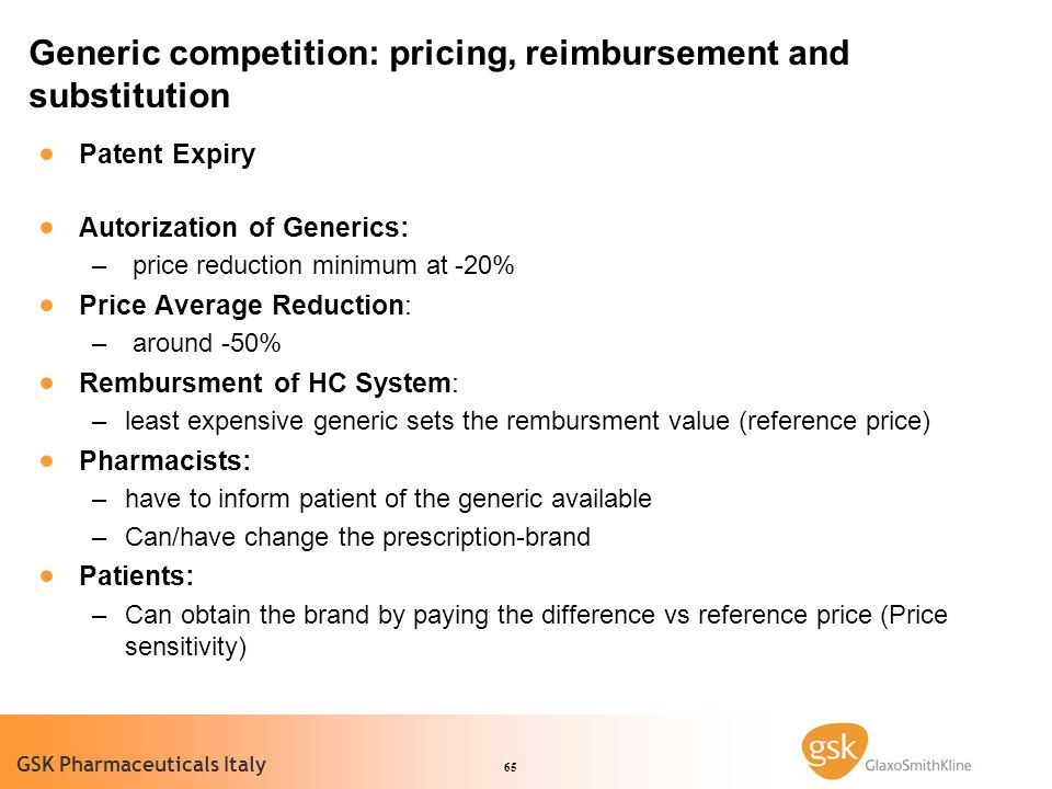 Generic competition: pricing, reimbursement and substitution
