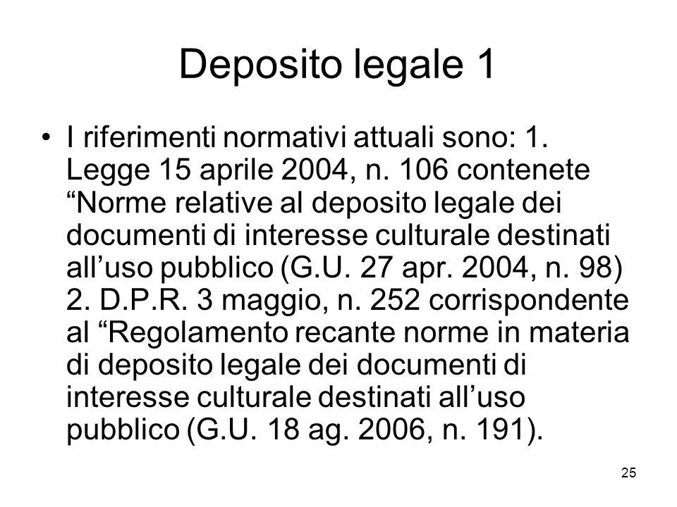 Deposito legale 1
