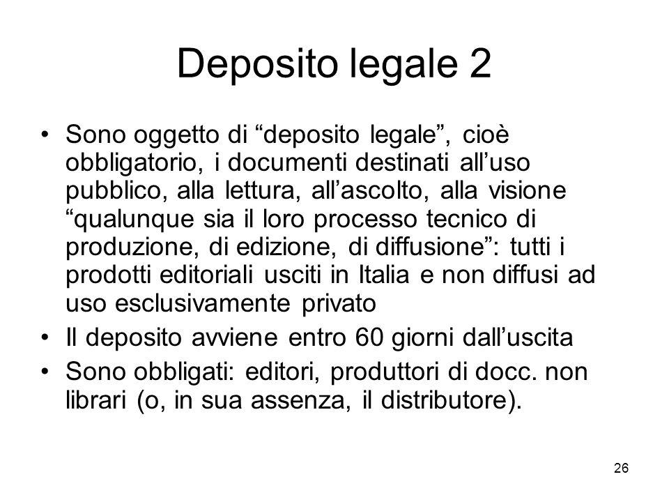 Deposito legale 2