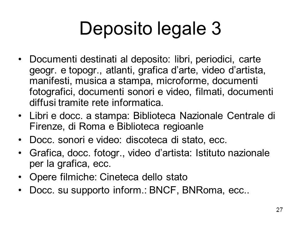 Deposito legale 3