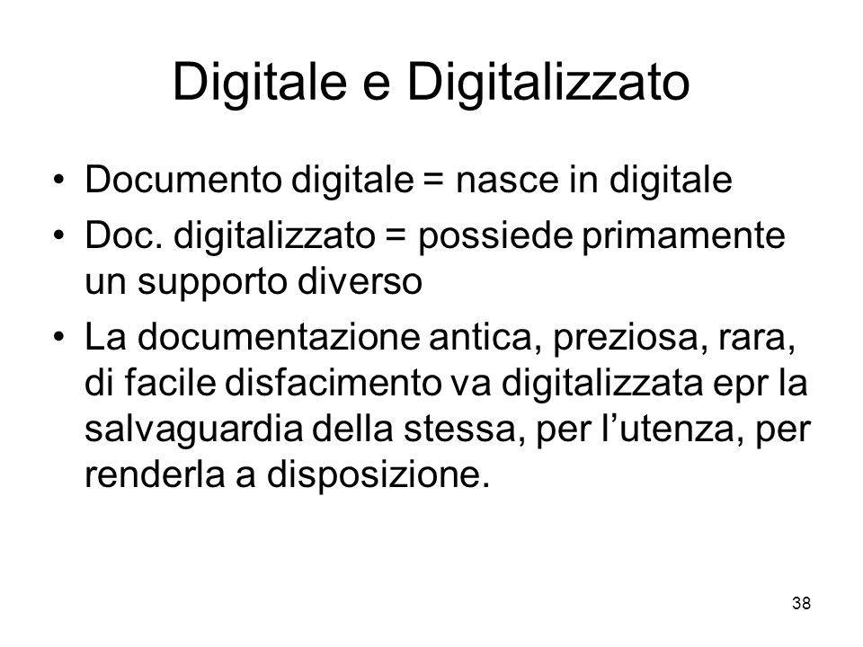 Digitale e Digitalizzato