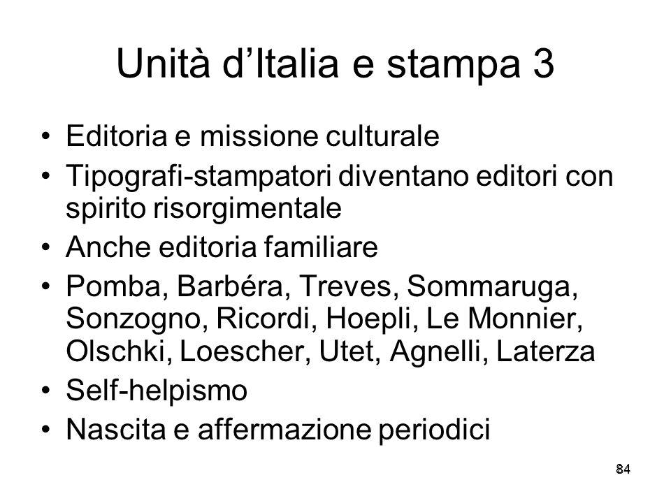 Unità d'Italia e stampa 3