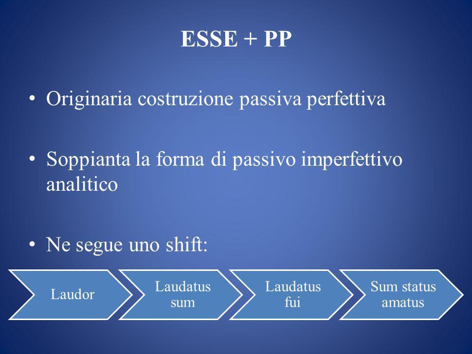 ESSE + PP Originaria costruzione passiva perfettiva