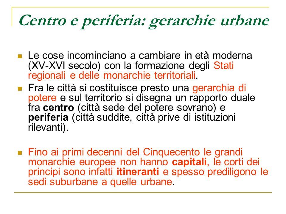 Centro e periferia: gerarchie urbane