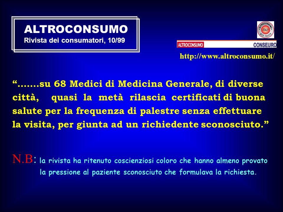 ALTROCONSUMO Rivista dei consumatori, 10/99