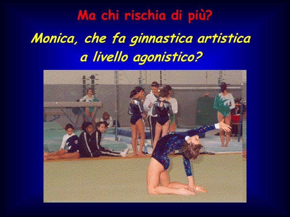 Monica, che fa ginnastica artistica
