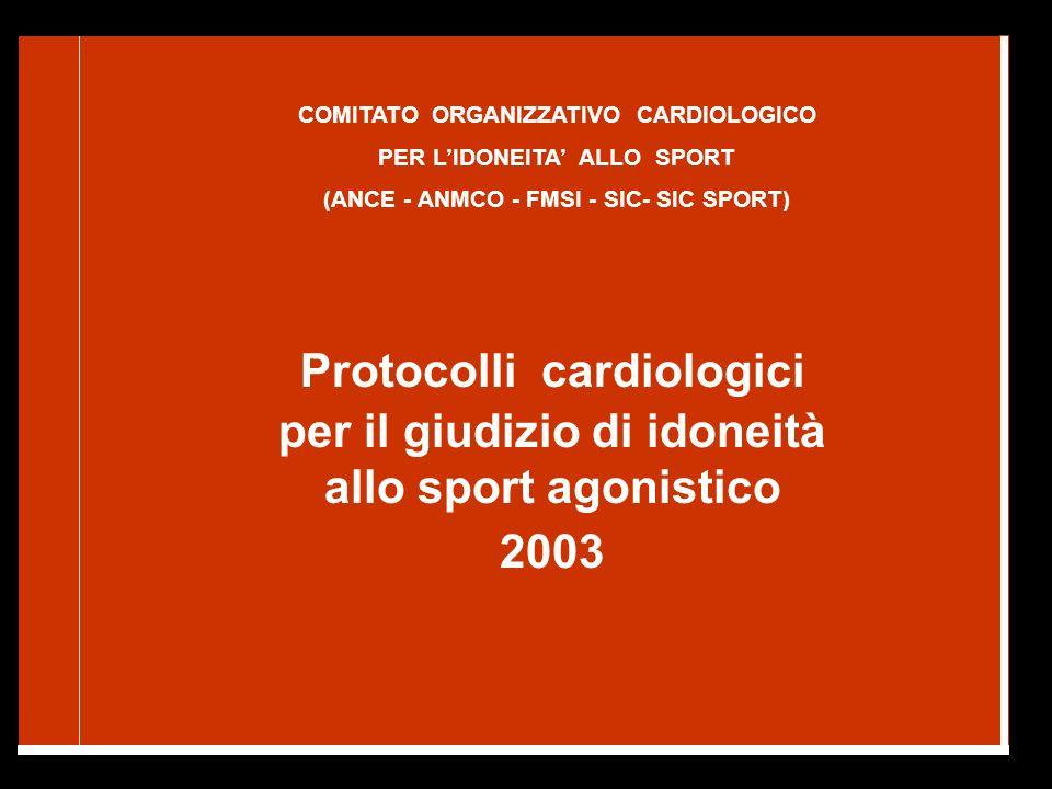Protocolli cardiologici per il giudizio di idoneità
