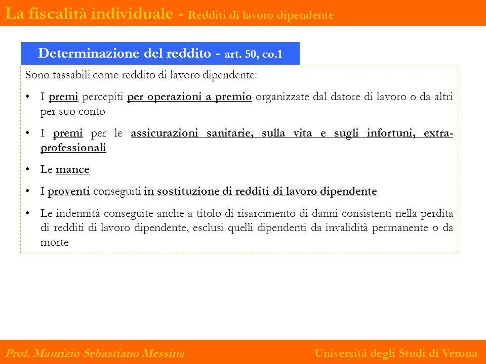 Determinazione del reddito - art. 50, co.1
