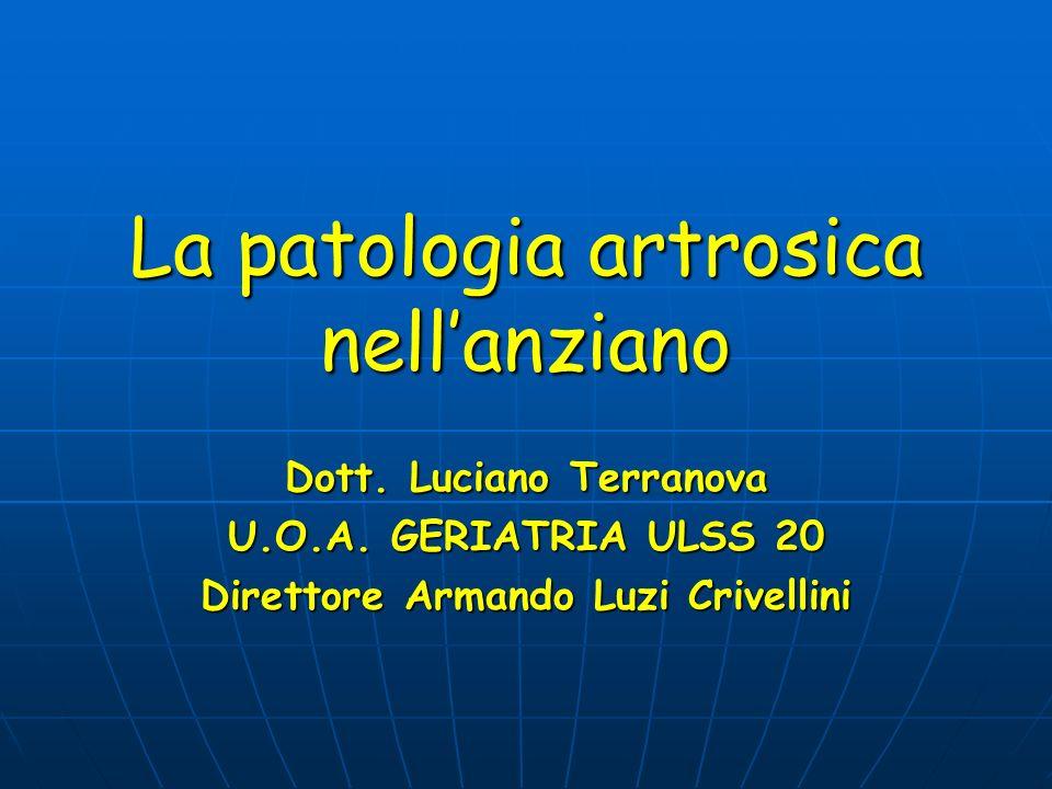 La patologia artrosica nell'anziano