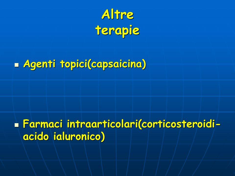 Altre terapie Agenti topici(capsaicina)