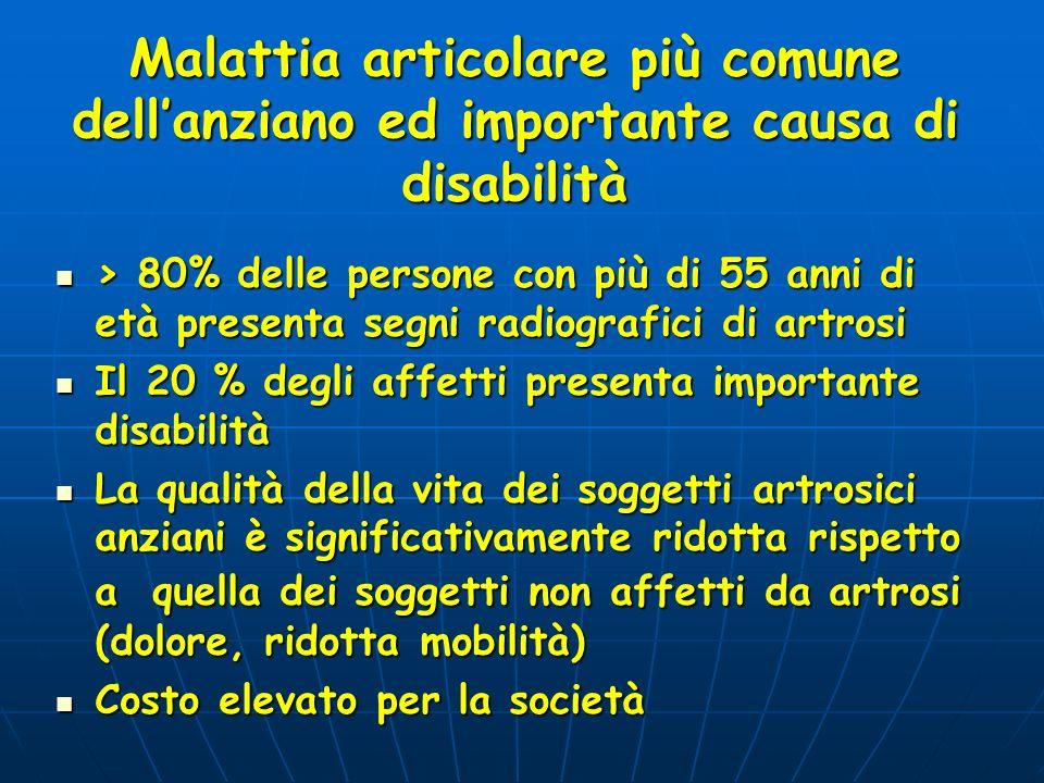 Malattia articolare più comune dell'anziano ed importante causa di disabilità