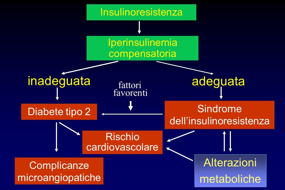 inadeguata adeguata Alterazioni metaboliche Insulinoresistenza