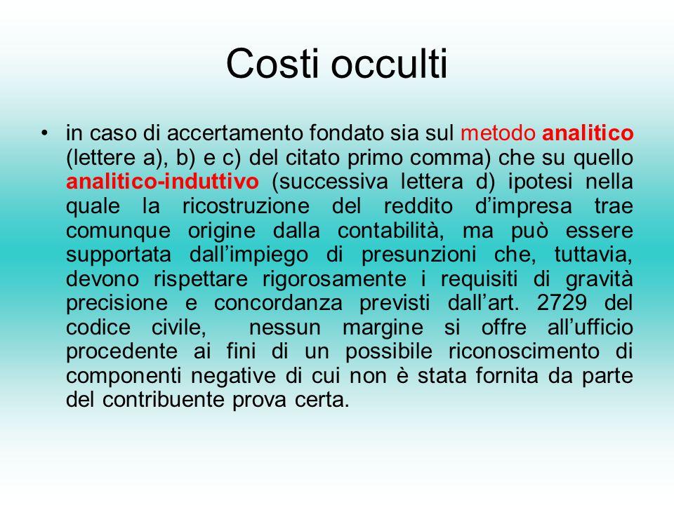 Costi occulti