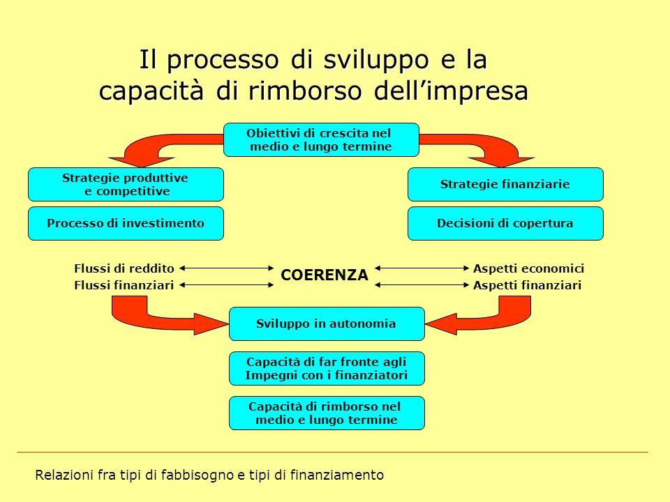 Il processo di sviluppo e la capacità di rimborso dell'impresa
