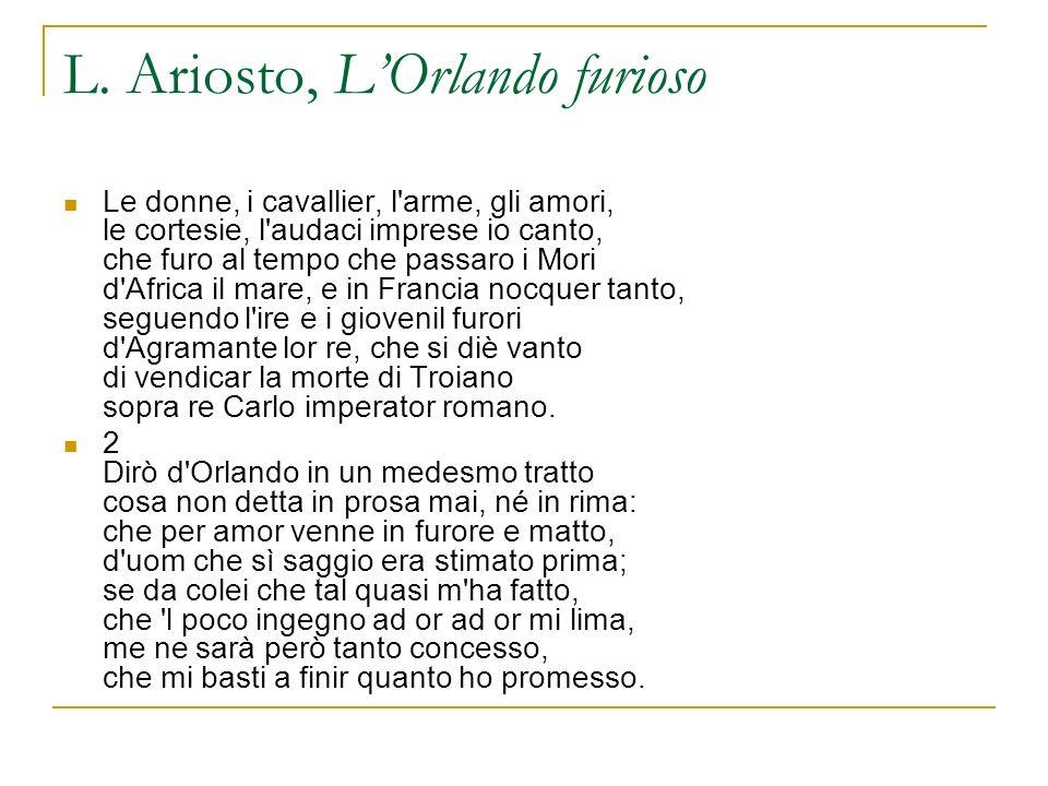 L. Ariosto, L'Orlando furioso