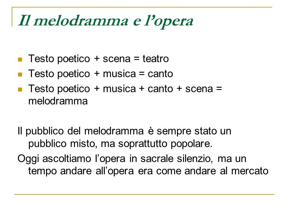 Il melodramma e l'opera