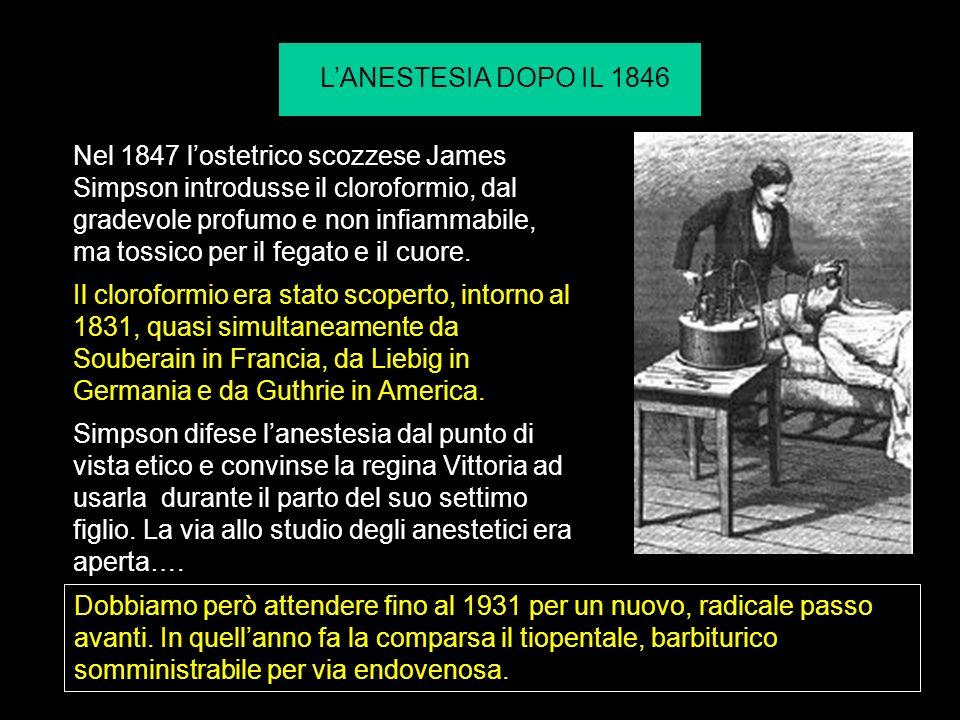 L'ANESTESIA DOPO IL 1846
