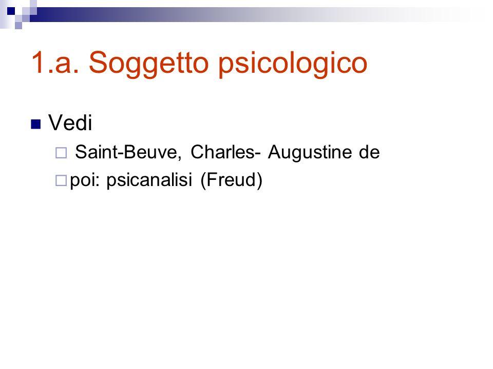 1.a. Soggetto psicologico