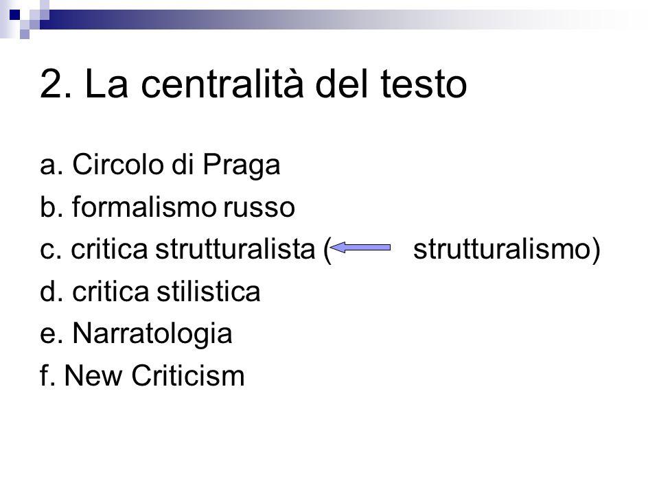 2. La centralità del testo