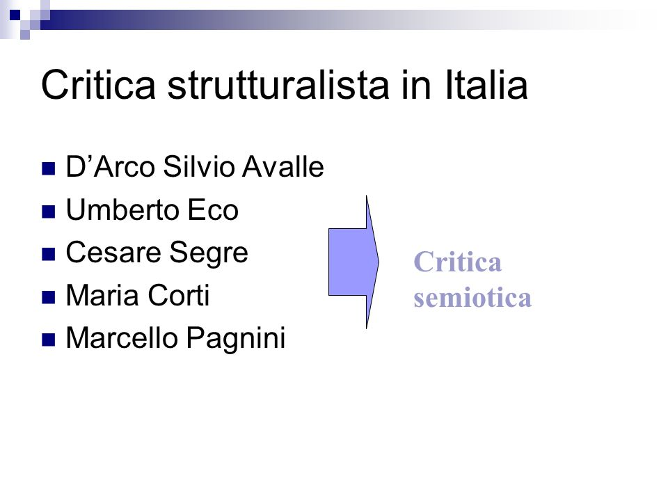 Critica strutturalista in Italia