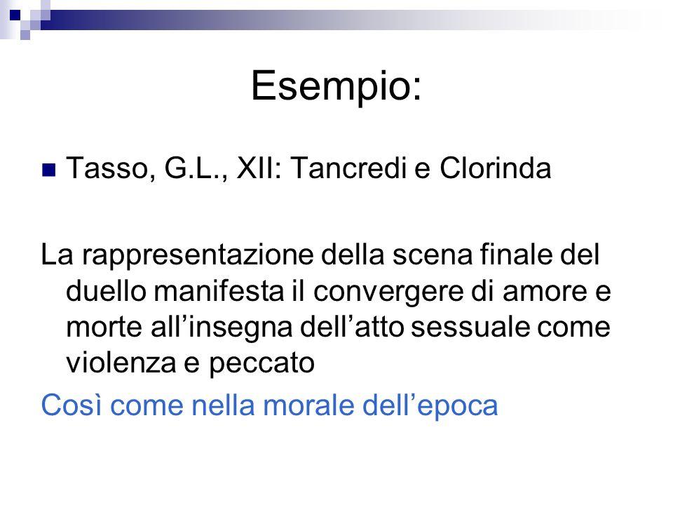 Esempio: Tasso, G.L., XII: Tancredi e Clorinda