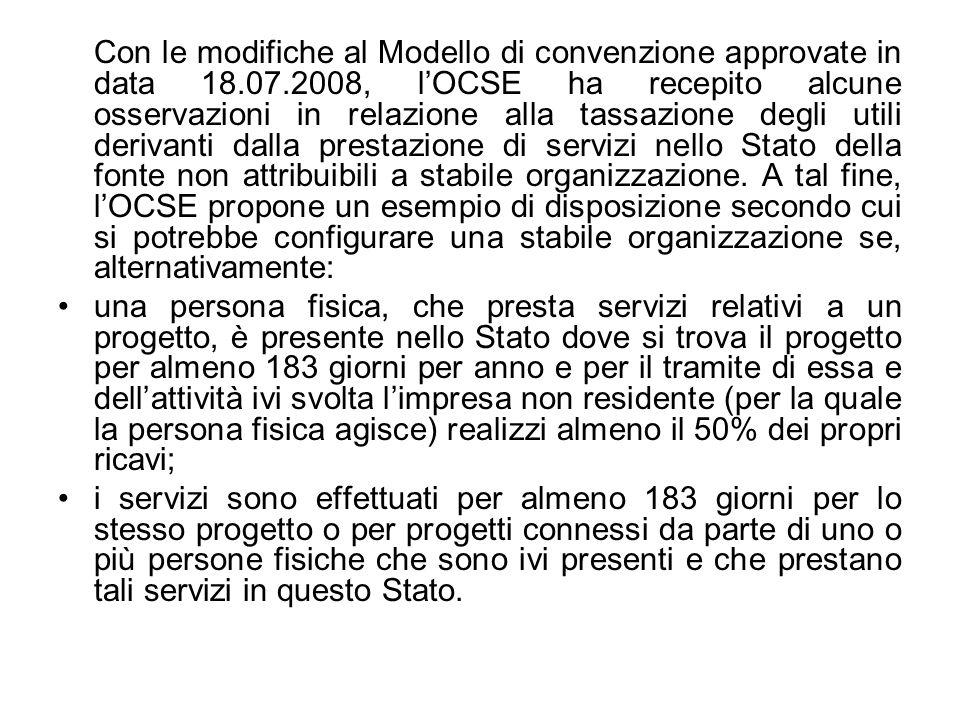 Con le modifiche al Modello di convenzione approvate in data 18. 07