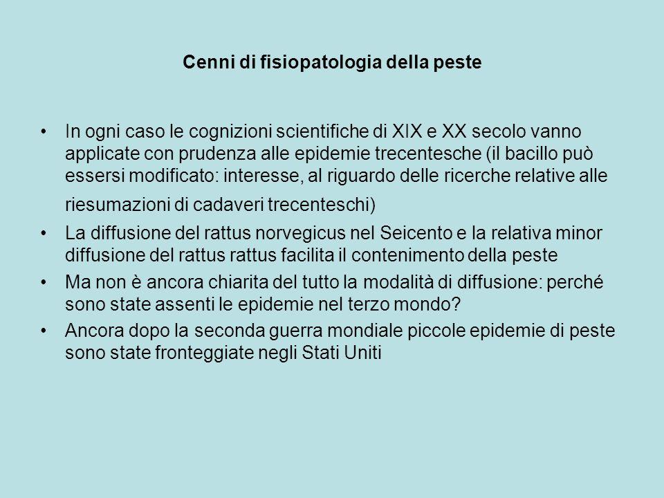 Cenni di fisiopatologia della peste