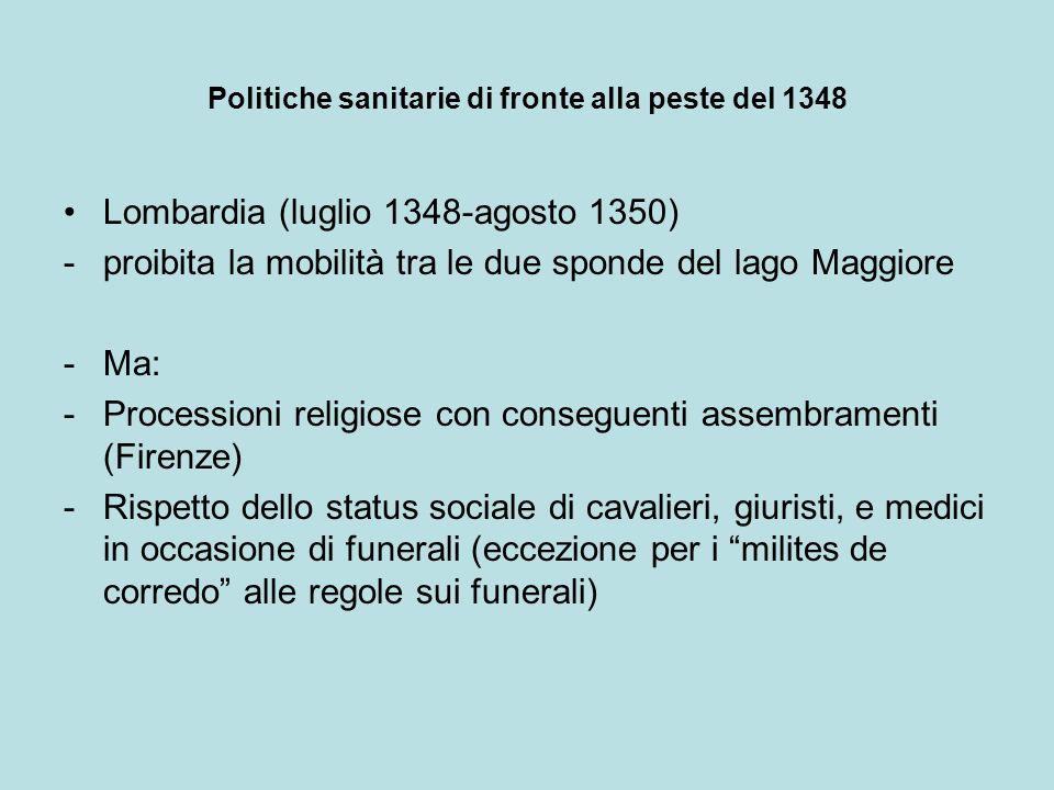 Politiche sanitarie di fronte alla peste del 1348