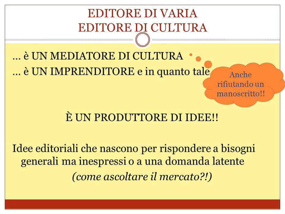EDITORE DI VARIA EDITORE DI CULTURA
