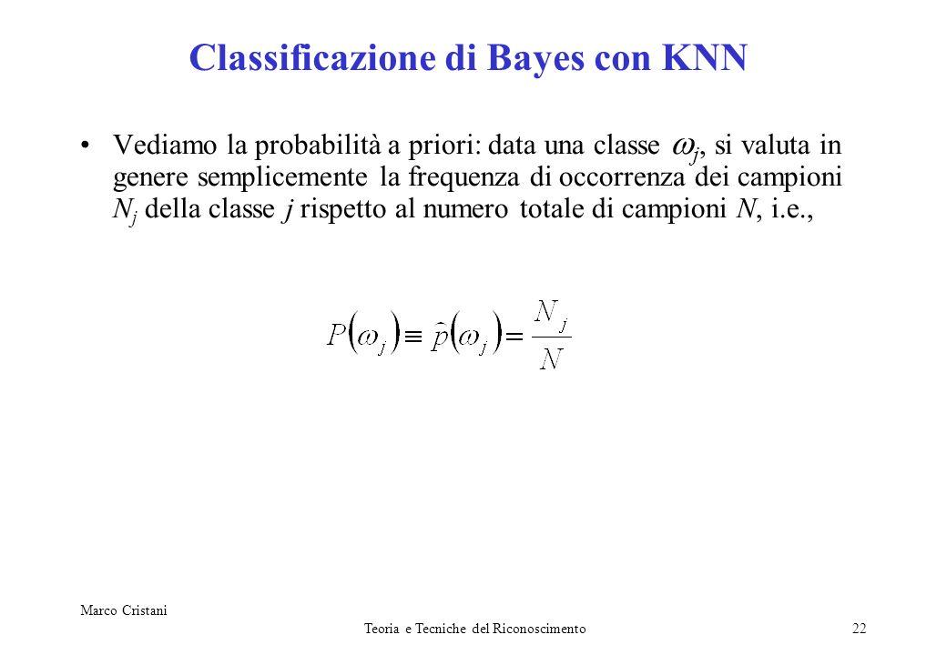 Classificazione di Bayes con KNN